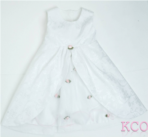 Five Layer Dress White/Pink ~ girls dress